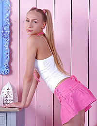 A kink teen doll like her is always ready to show something smoking hot to the guys who have come to see her.